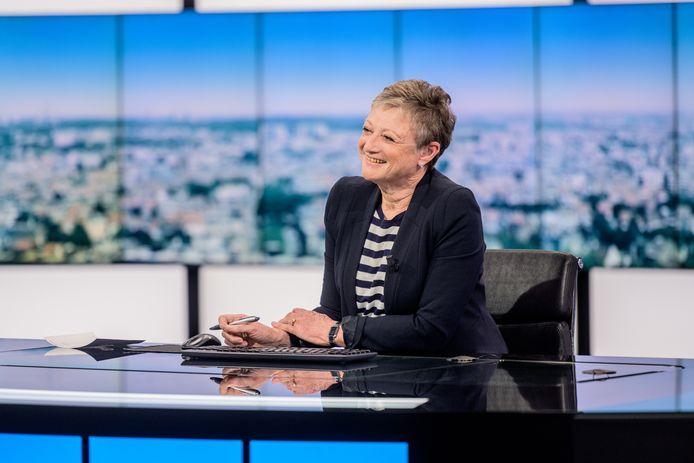 Martine Tanghe, op haar laatste dag als nieuwsanker