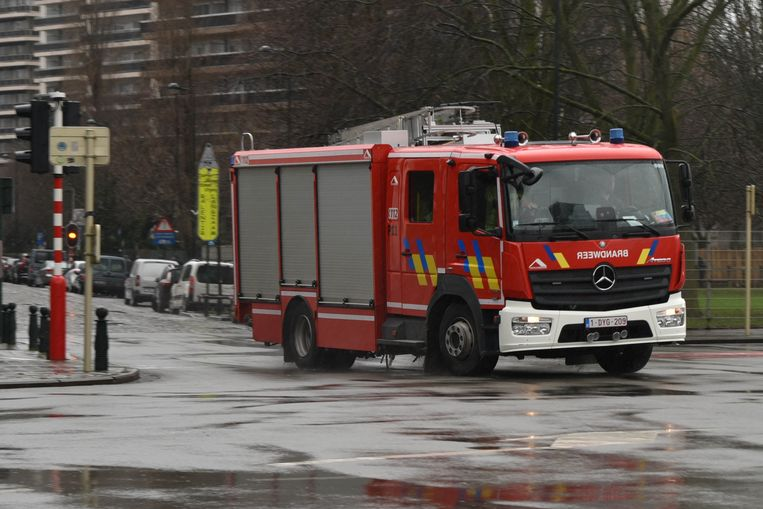 Brandweer komt tussenbeide in Anderlecht.
