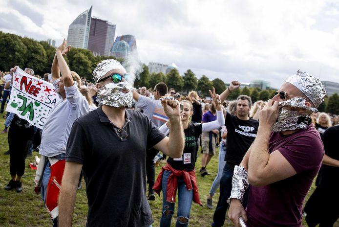 Tegenstanders van de coronamaatregelen demonstreerden eerder op het Malieveld in Den Haag.