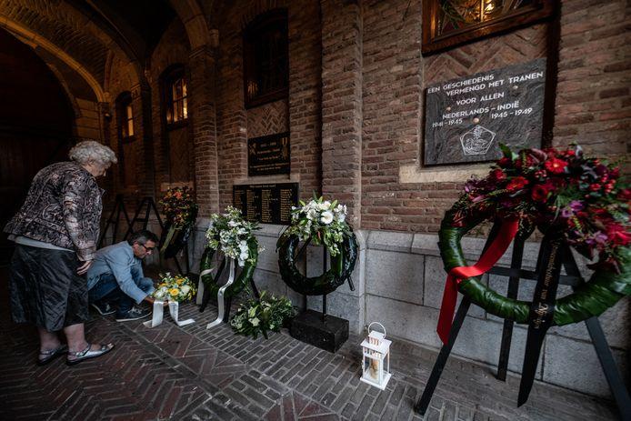 De Indië-herdenking in Nijmegen op de Gedeputeerdenplaats.
