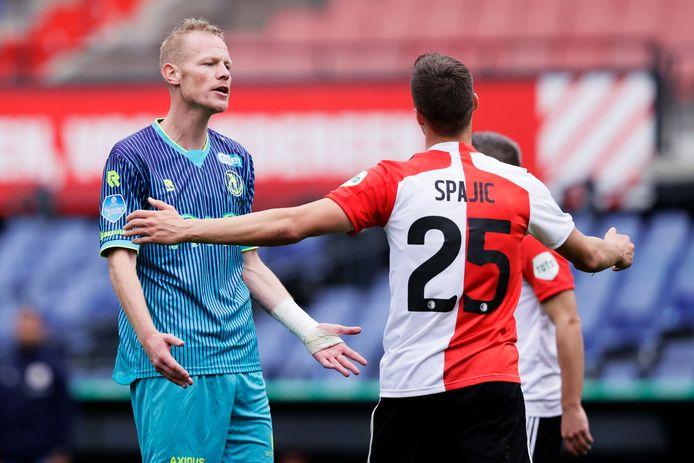 Tom Beugelsdijk tijdens Feyenoord - Sparta (1-1).