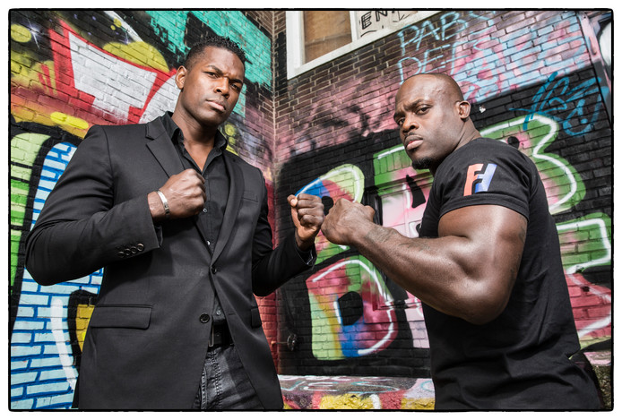 Remy Bonjasky (links) en Melvin Manhoef.