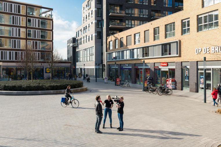 Straatinterview voor 1Twente Enschede Beeld null
