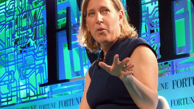 YouTube-directeur Susan Wojcicki op de Fortune Brainstorm Tech conferentie.