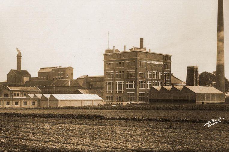 Een oud beeld uit de beginperiode van de 'Brouwerij en Melkerij van Haecht'.