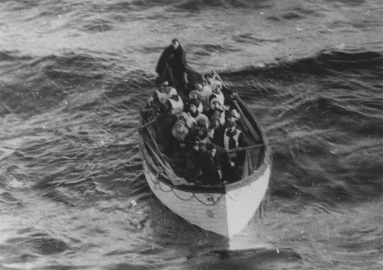 Een van de reddingsboten van de Titanic