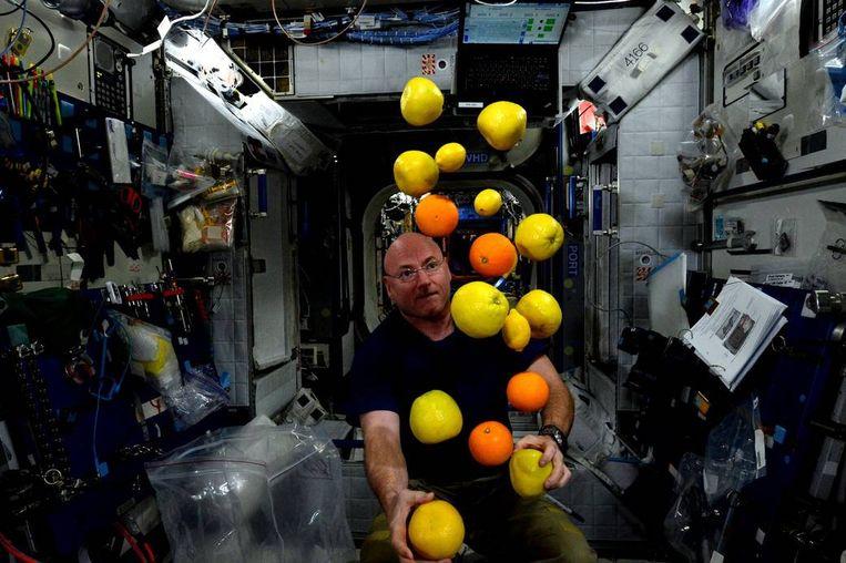 Scott Kelly in het ISS