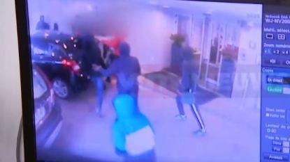Relschoppers vallen voorbijgangers aan die hotel in moeten vluchten, VTM-reporter krijgt tik live tijdens journaal