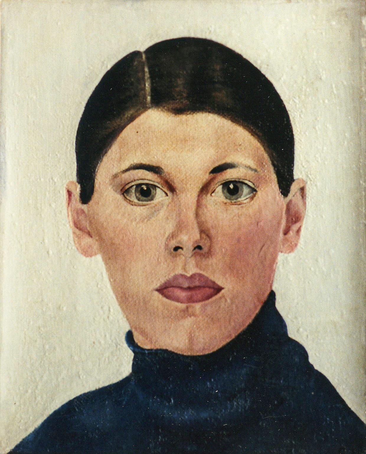 Zelfportret uit 1929, rechtsboven. Beeld Bep Rietveld / Museum Flehite