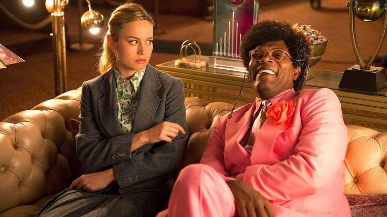 Brie Larson en Samuel L. Jackson in Unicorn Store. Beeld