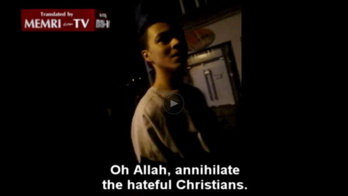 De zoon van Amaouch zorgde voor ophef met een videoboodschap waarin hij opriep alle christenen te doden.