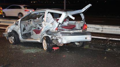 Jong koppeltje gewond bij zware aanrijding op einde A19