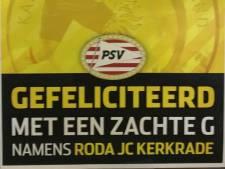Roda JC scoort punt op het veld en via respect punten tegen PSV