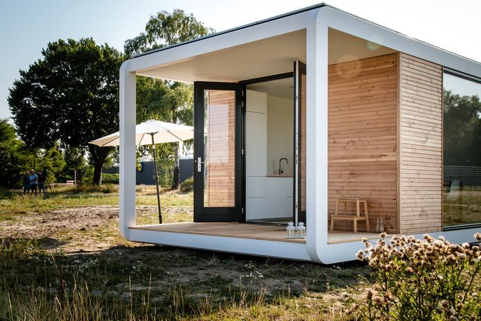 Een tiny house zoals die straks in Renesse komt te staan.