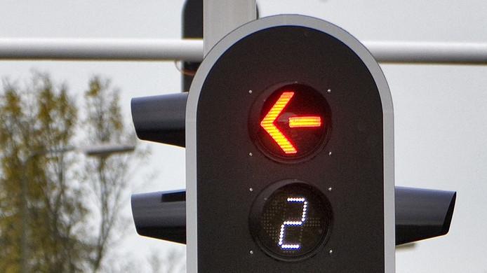 Het licht telt vanaf drie seconden af naar groen. Foto ter illustratie.