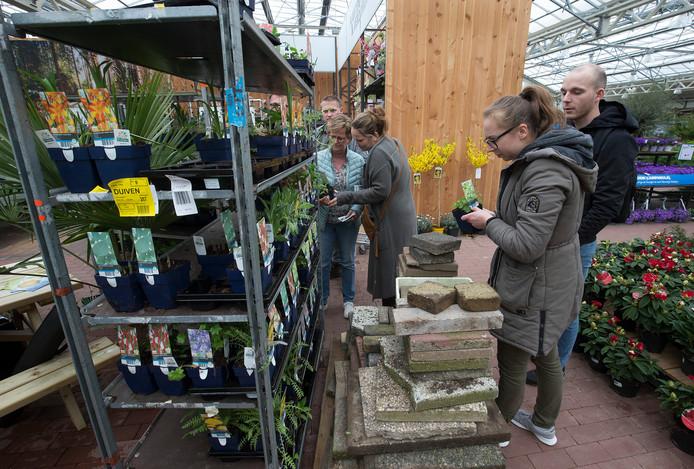 Tegels inleveren voor een tuinplant bij Intratuin in Duiven.