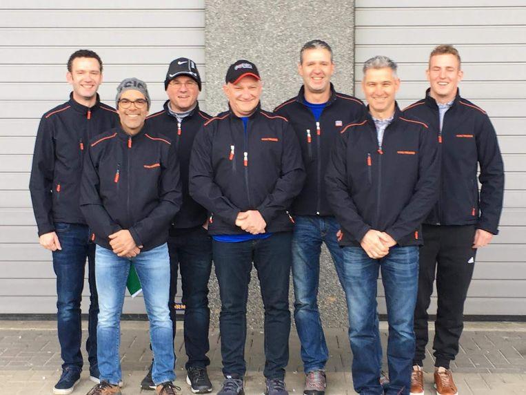 Peter Van Delm en zijn team.