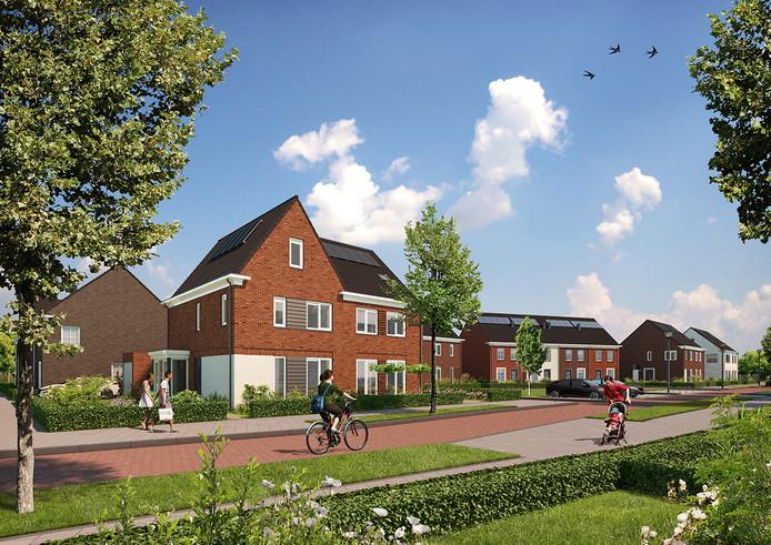 De Spoorzone Deurne. Hier moeten 32 rij- en hoekwoningen komen, gelegen aan de Fabriekstraat en de daarachter gelegen Laurens Costerstraat en Steenovenweg.