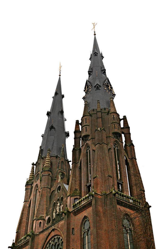 De torens van de Catharinakerk.