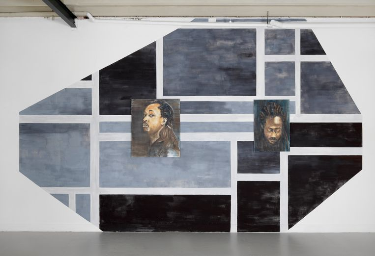 Iris Kensmil, Rhythm of Dutch spoken Words, installatie, 350 x 517 cm, 2015. Beeld Gert Jan van Rooij