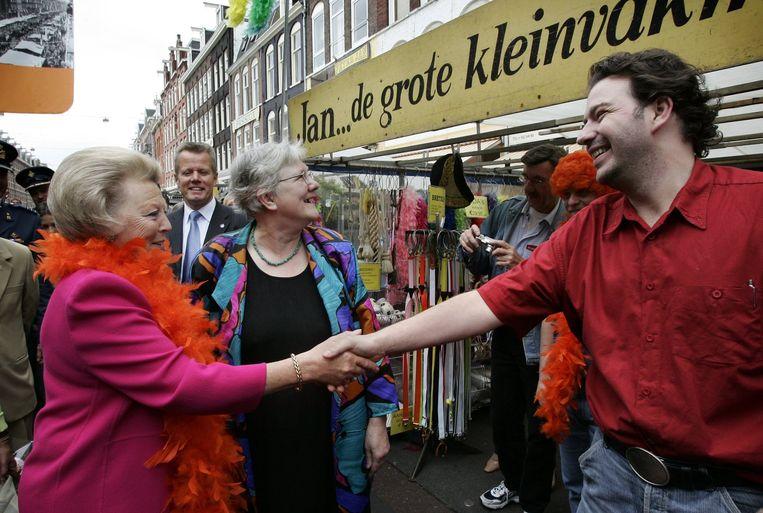 Ook Beatrix houdt van Jan de Grote Kleinvakman Beeld anp