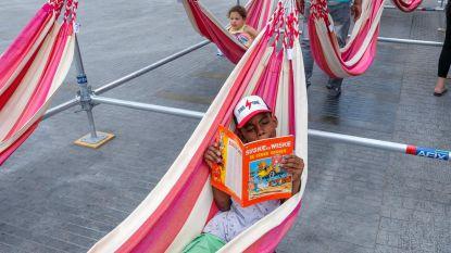 Boekenwurmen genieten in leesoase Muntpunt
