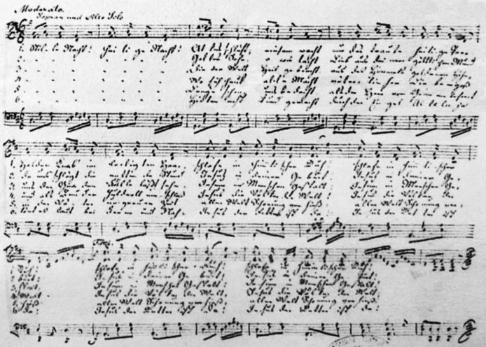 Het lied van Franz Gruber.