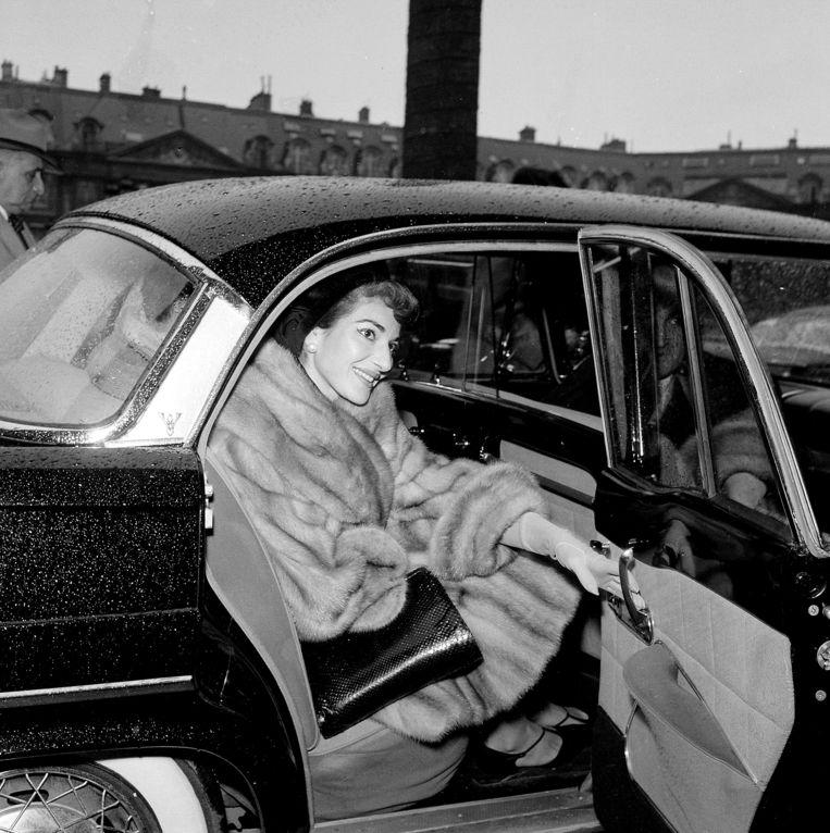 Maria Callas in Parijs, december 1958 Beeld Claude Poirier / Roger-Violet /