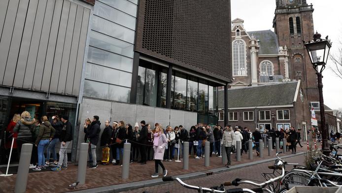 De rij voor het Anne Frank Huis