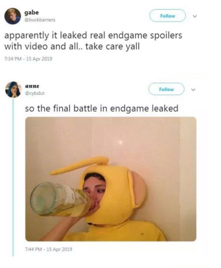 Fans reageren op spoilers voor 'Avengers: Endgame'.