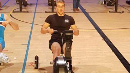 Twee kilometer serieus afzien en geen millimeter van je plek komen, maar het loont: Ward Lemmelijn wordt wereldkampioen indoor roeien in Los Angeles