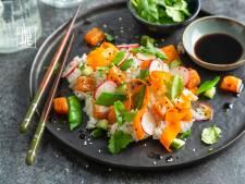 Wat Eten We Vandaag: Gemarineerde zalm met Oosterse salade