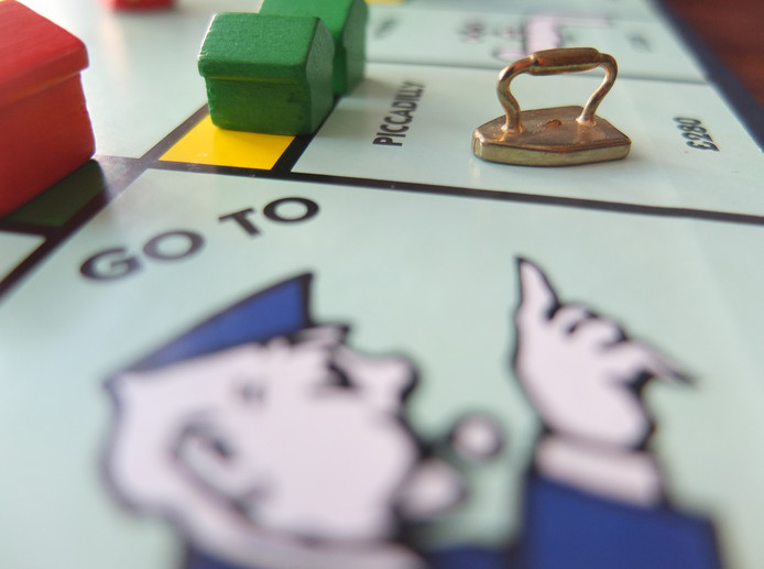 Monopoly, foto ter illustratie