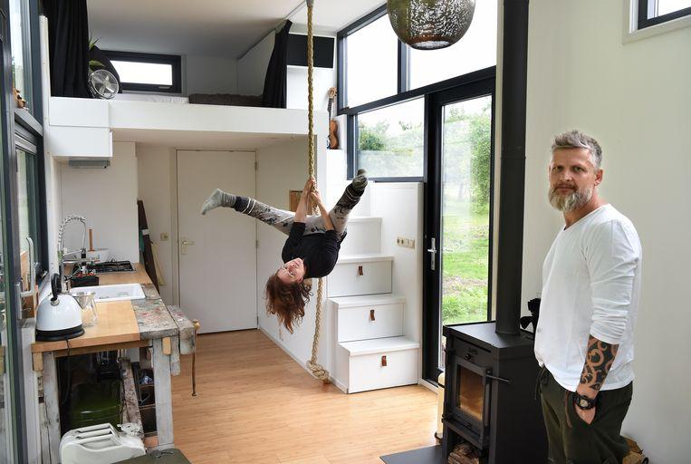 Nieuwegein: Mike Kreft en Floor Heijmans. Beeld Marcel van den Bergh