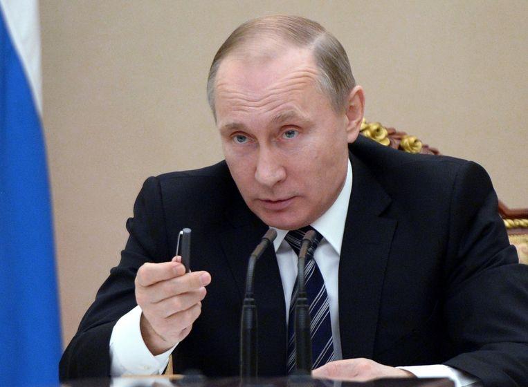 De Russische president Poetin. Beeld ap