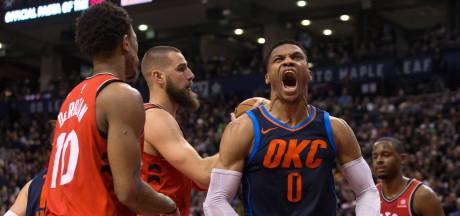 Ontketende Westbrook stopt zegereeks Raptors