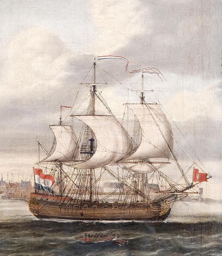 Fregat De Witte Bijle, of El Porto Prince, mogelijk ook een Zeeuws schip dat zich met smokkel bezig hield.