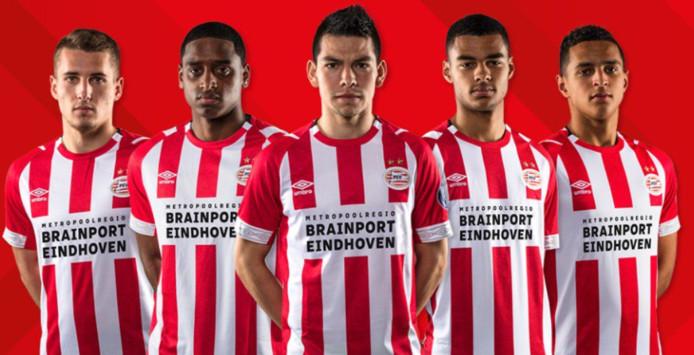 Via 'Metropoolregio Brainport Eindhoven' gaan vijf grote partijen op het shirt van PSV staan.