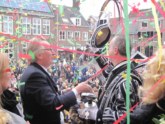 De sleuteloverdracht in Wageningen tijdens carnaval (archiefbeeld)