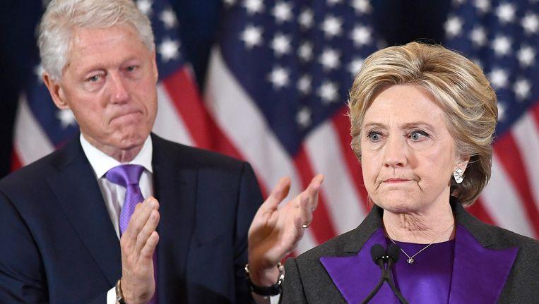 Bill en Hillary Clinton. Beeld AFP