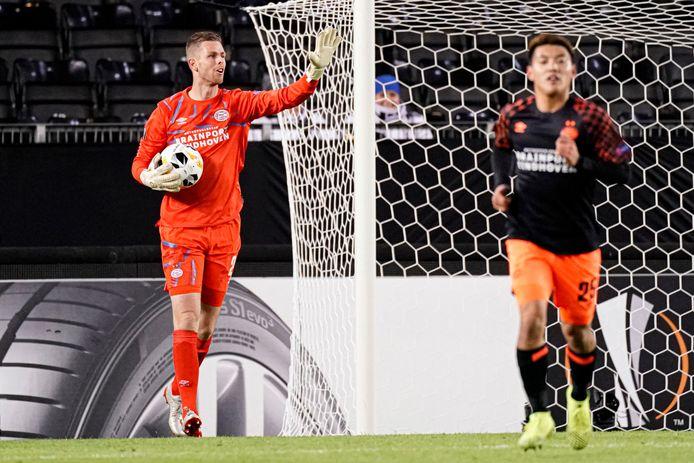 Robbin Ruiter keepte afgelopen seizoen nog voor PSV in de Europa League. Dat hoopt hij bij Willem II ook te doen.