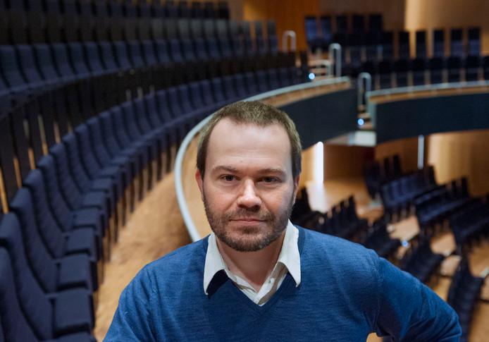 Xavier Vandamme, directeur van het Festival Oude Muziek, in zaal Hertz van TivoliVredenburg.