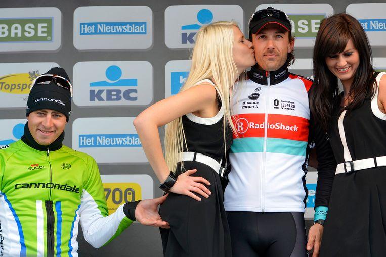 Peter Sagan tijdens de Ronde van Vlaanderen vorig jaar.