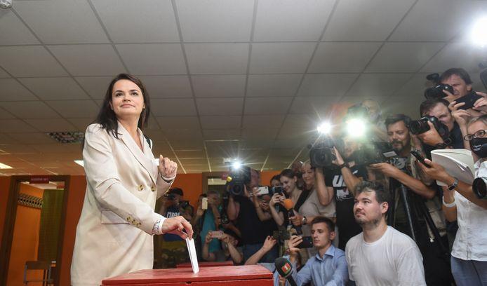 Oppositiekandidate Svetlana Tichanovskaja.