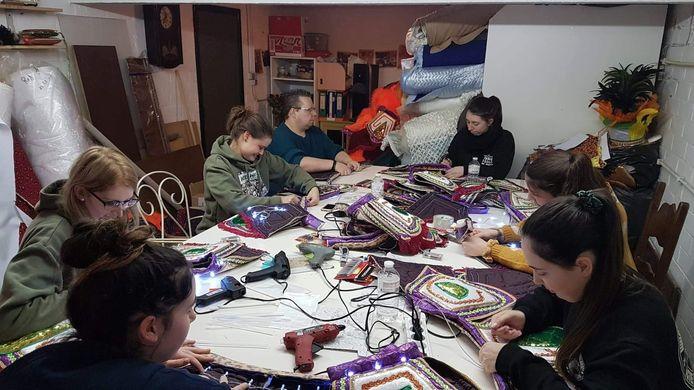 Het atelier van carnavalsgroep Nie Geweun