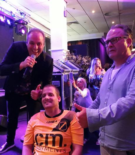 Simon Bouwens met begeleider Marco bij NAC: 'Perfecte dag'