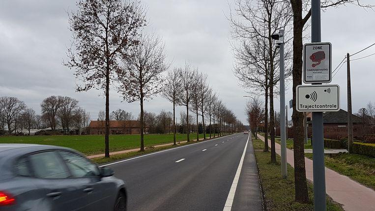 De trajectcontrole op de Hoogstraatsebaan leverde meer dan 3.000 pv's op.