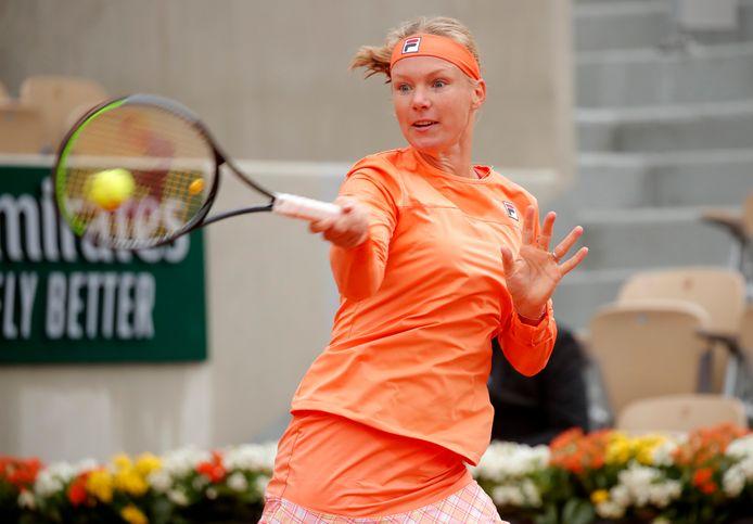 Kiki Bertens won in de eerste ronde op Roland Garros in drie sets van Katarina Zavatska.