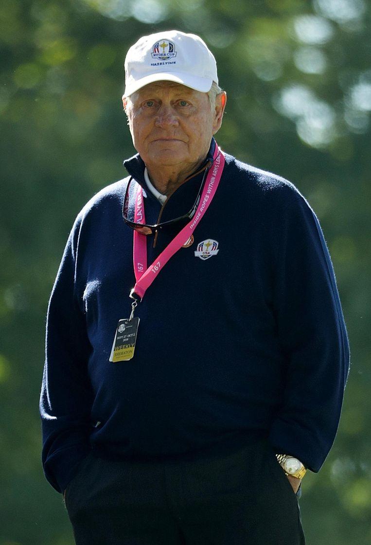 Golflegende en recordhouder majortitels Jack Nicklaus. Beeld afp