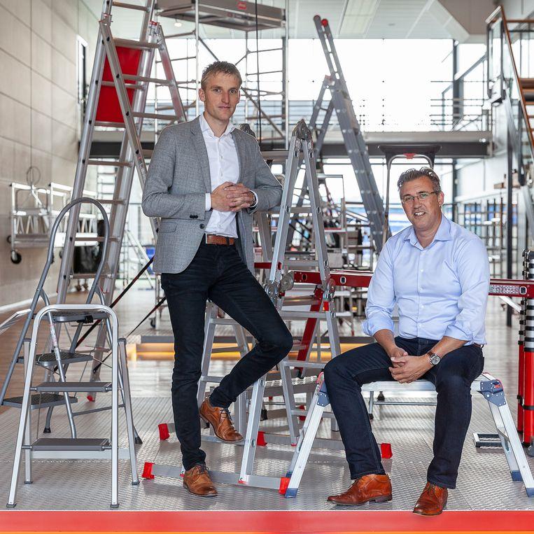 Links ceo Jan Keizer, rechts hoofd ontwikkeling Maarten Hogervorst. Beeld Harry Cock/de Volkskrant